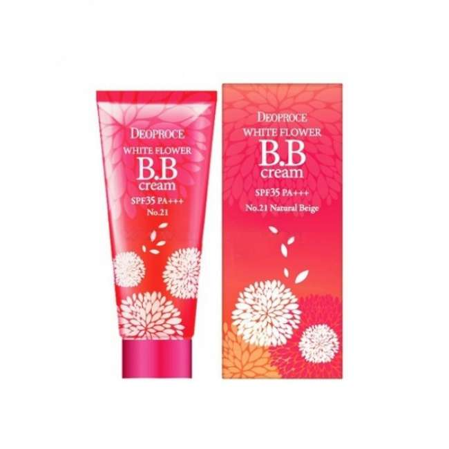 SALE ББ крем SPF 35 Deoproce White Flower BB Cream SPF 35 #21 Natural Beige, 30 гр в интернет-магазине Etomarta.com